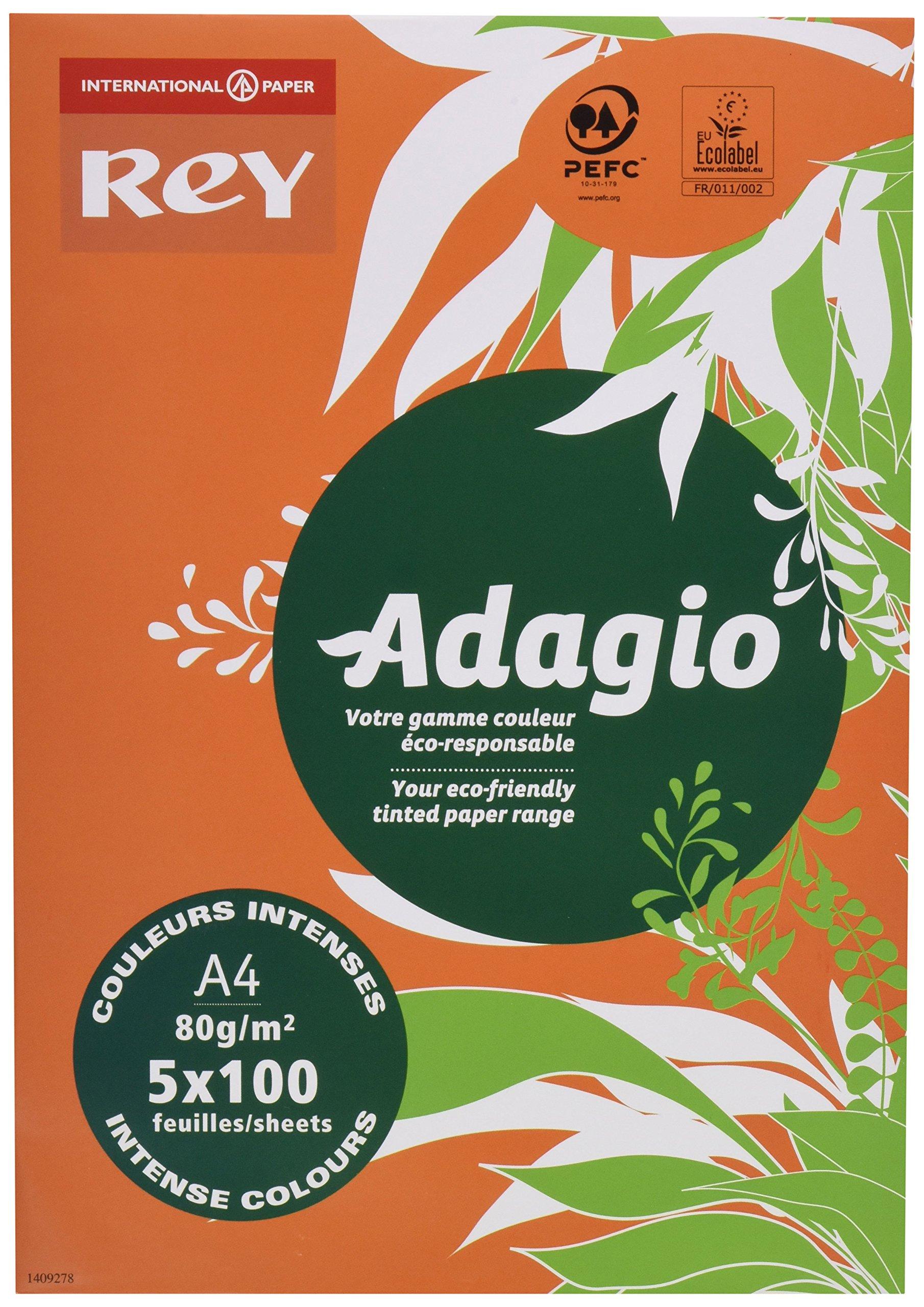 Adagio Copy/IJet 80gsm A4 Ream Assorted Bright