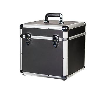 Caja para almacenar discos de vinilo, 245 cm x 30 cm, de ABS y aluminio reforzado, duradera y con cerradura: Amazon.es: Instrumentos musicales