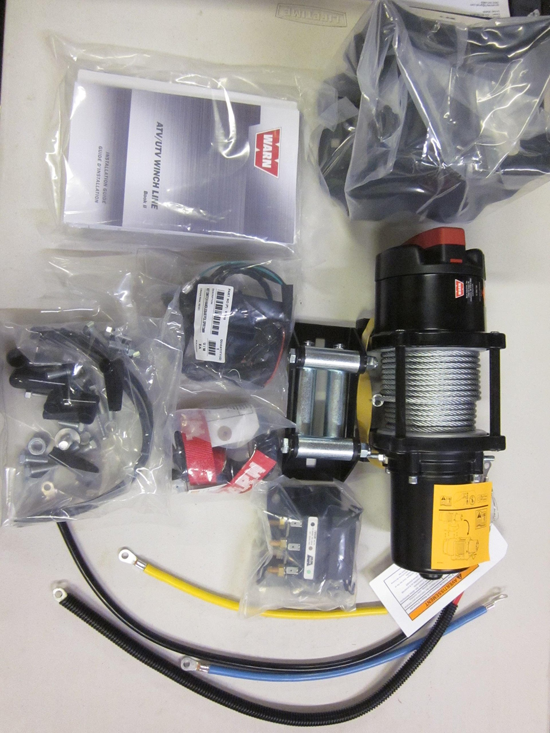 Polaris 2013-16 Ranger 900 1000 Diesel Warn ProVantage 4500 Winch kit- 2880569