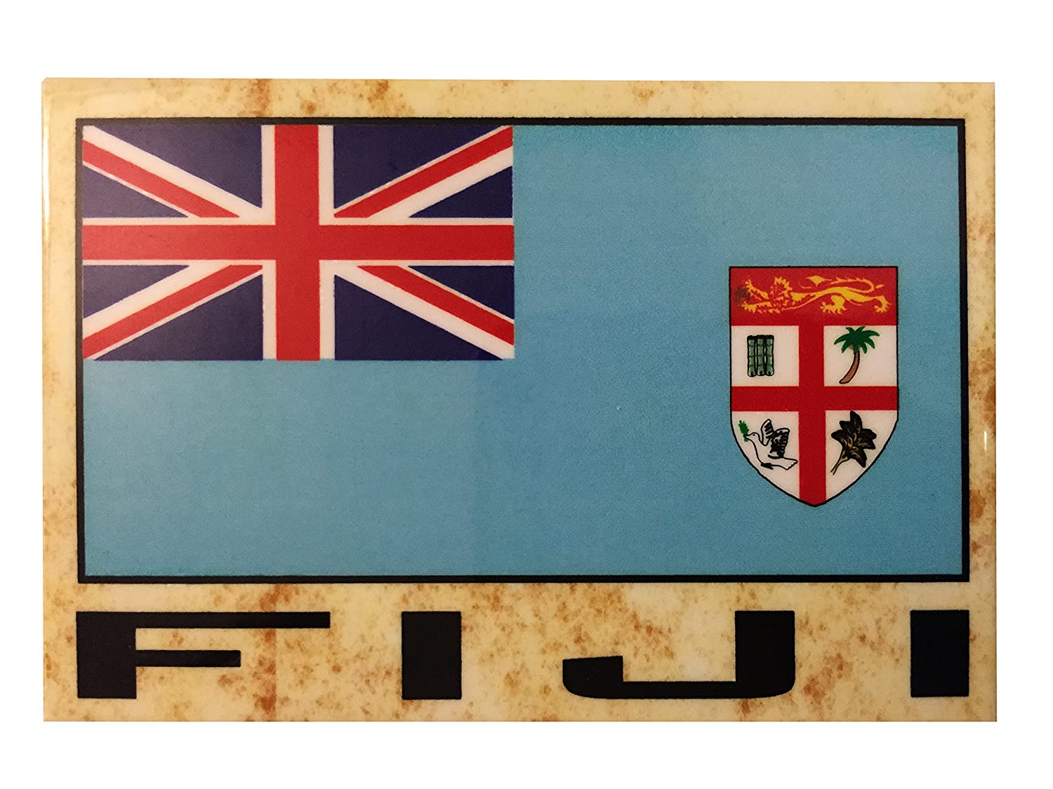 Flag Fridge Refrigerator Magnets - Asia and Africa (Country: Fiji)
