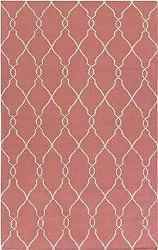 Amazon Com Surya Jill Rosenwald Fallon Fal 1002 Flatweave Hand Woven 100 Wool Redwood 5 X 8 Global Area Rug Furniture Decor