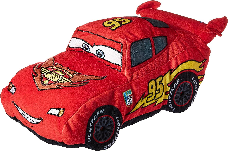 Amazon Com Disney Pixar Cars Plush Stuffed Lightning Mcqueen Red Pillow Buddy Kids Super Soft Polyester