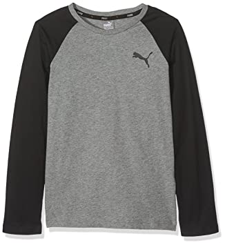 df05c9df5a7 Puma Children's Style Baseball Tee T-Shirt, Medium Grey Heather, ...