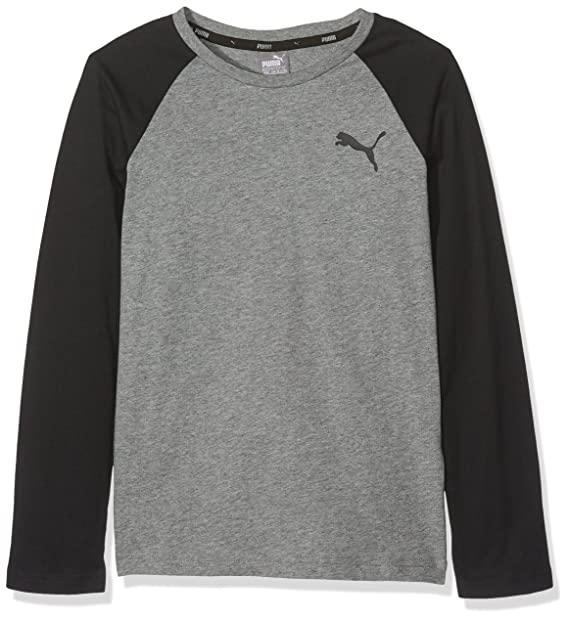 Puma - Style Baseball - Camiseta Manga Larga - Medium Gray Heather   Amazon.es  Ropa y accesorios db4ad3de5de3