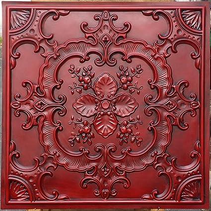 Amazon.com: Pl19 Faux Tin Painted Decorative Fancy Design Vinyl ...