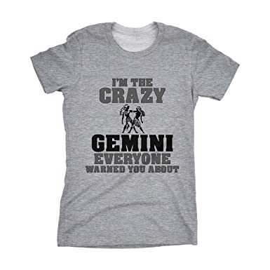 c933f56e I'm The Crazy Gemini - Funny Women Zodiac name t-shirt!: Amazon.co ...