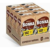 Bonka Café Tostado Molido Espresso Natural, 250 g - 8 Paquetes