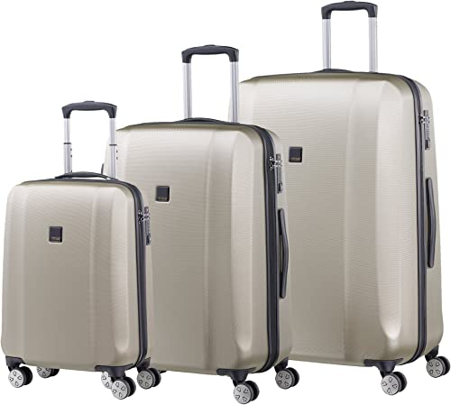 Titan Xenon Hardshell 3 Piece Spinner Luggage Set, Champagne, One Size
