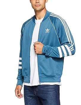 3eca4d0694 adidas Authentics Veste de survêtement Homme, Blue, Blanc, FR : S (Taille