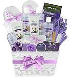 Premium Deluxe Bath & Body Gift Basket. Ultimate Large Spa Basket! #1 Spa Gift Baskets for Women (Lavender Chamomile)