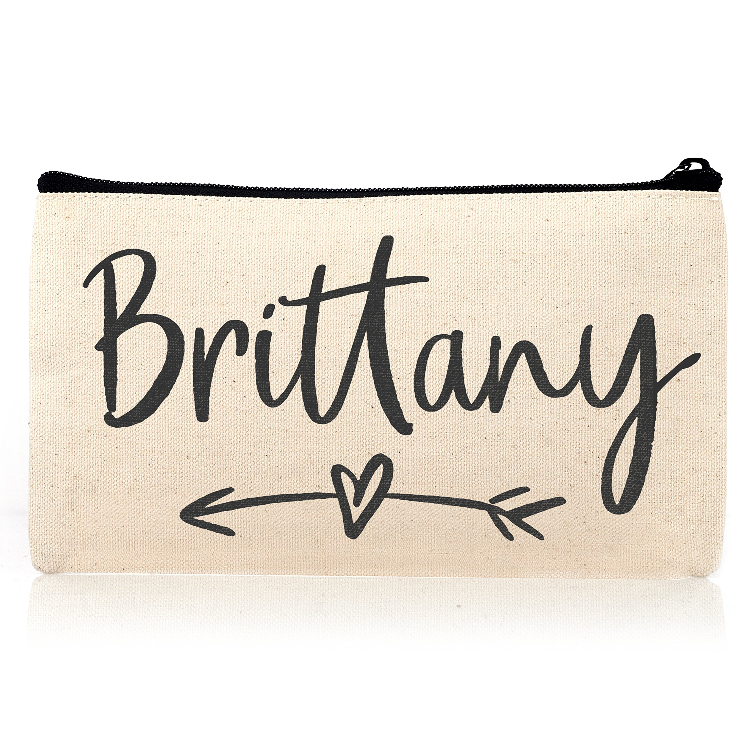 Personalized Cosmetic Bag Travel Makeup Pouch Wedding Bridal Party | DSG#11 | set of 6