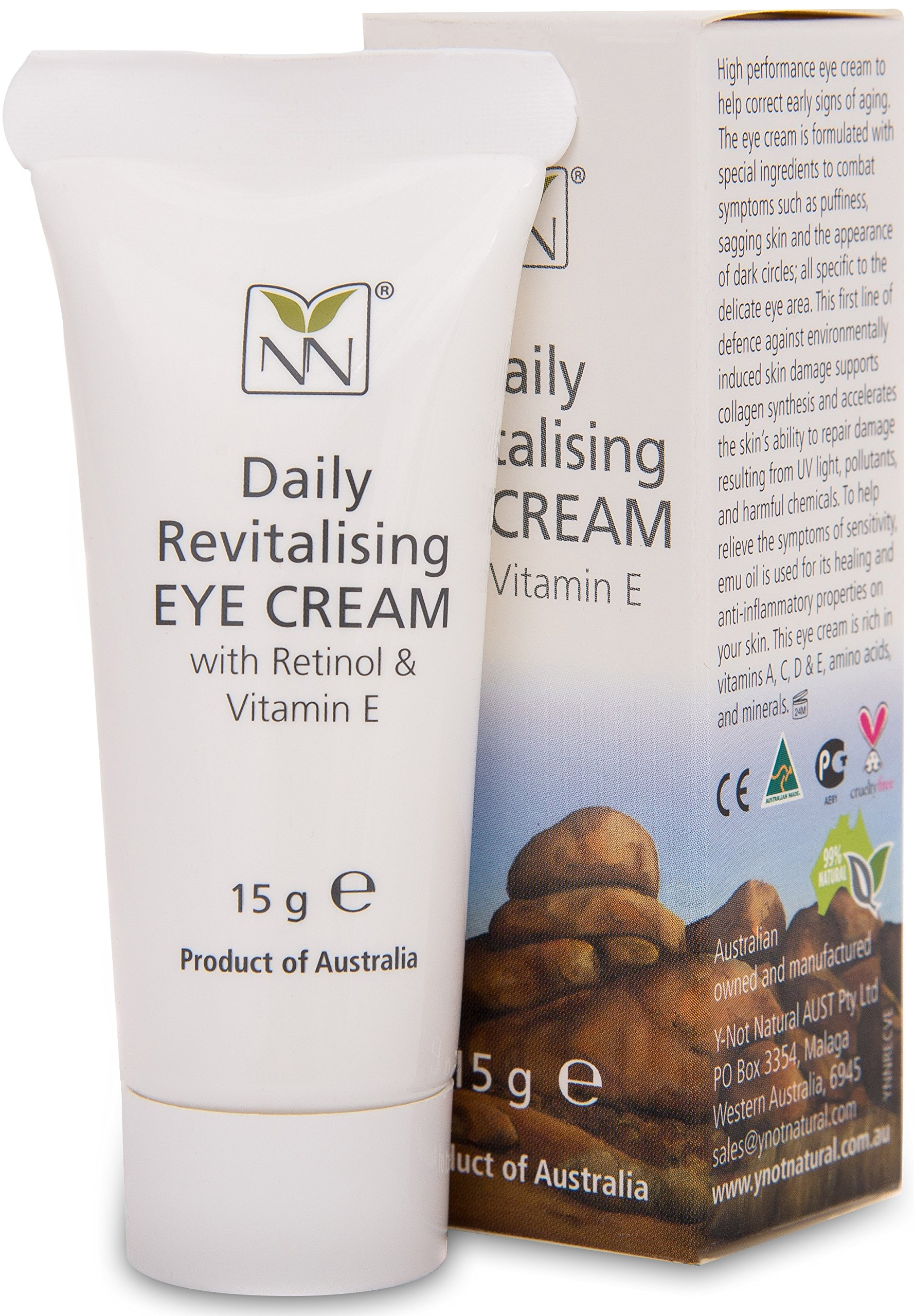 99% Natural Anti Aging Eye Cream with Australian Emu, Retinol, and Vitamin E | The Ultimate Anti-Aging Eye Cream for Wrinkle Reduction and Under eye bags!
