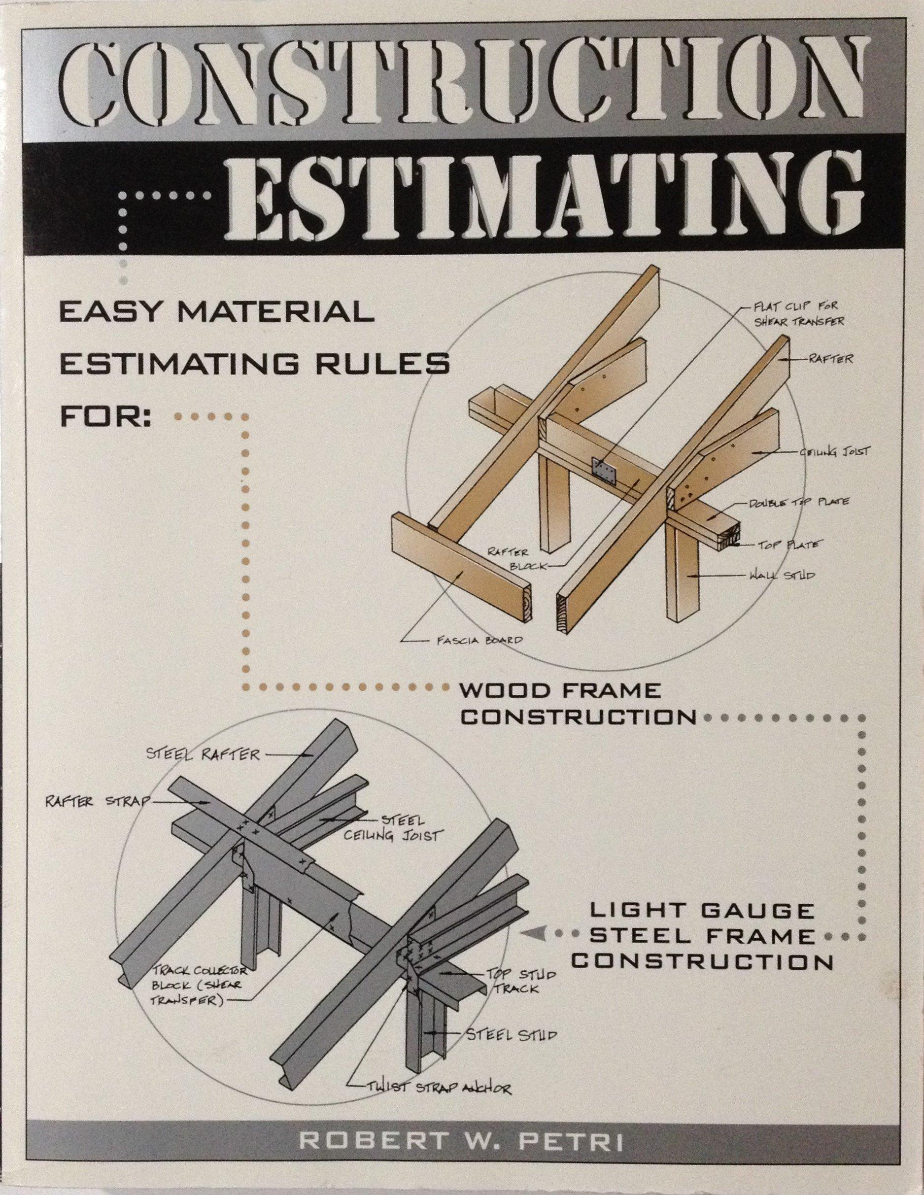 construction estimating robert w petri 本 通販 amazon