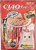 [訳あり(賞味期限2020年3月末)] チャオ (CIAO) 猫用おやつ ちゅ~る 11歳からの 焼かつお かつおミックス味 12g×25本入