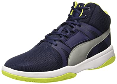 06f5581639b3dc Puma Unisex s Rebound Street Evo Idp Peacoat Silver-Limepunch Sneakers-11  UK India