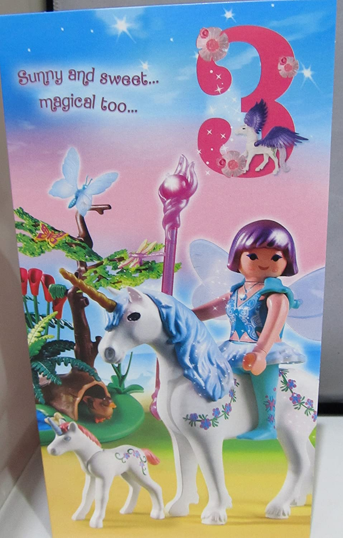 Hallmark Playmobil Edad tarjeta de cumpleaños 3: Amazon.es ...