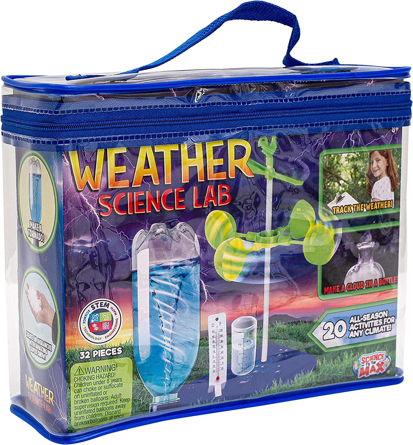 Be Amazing! Toys Weather Science Lab - Kids Weather Science Kit with 20 All Season Science Projects - Educational STEM Science Kits for Boys & Girls - Scientific Meteorology Toys for Children Age 8+: Toys & Games