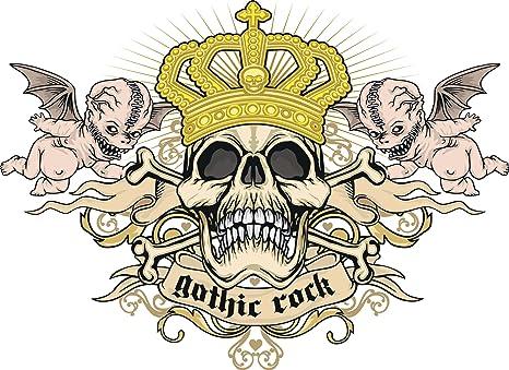 Amazon.com: Evil demoniaca satánico gótico calavera # 2 ...