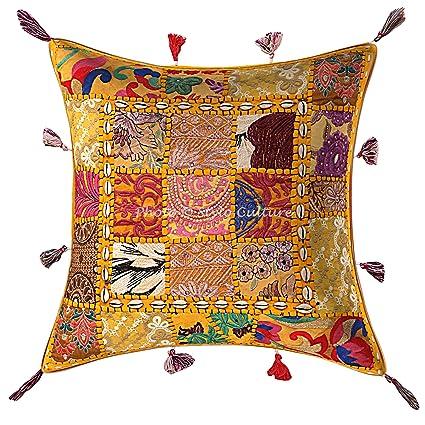 Amazon.com: Stylo Culture Ethnic Decorative Throw Pillow ...