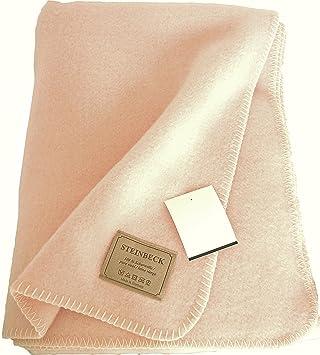 Steinbeck Flauschige Warme Rosa Wolldecke Aus Schurwolle 130x180cm