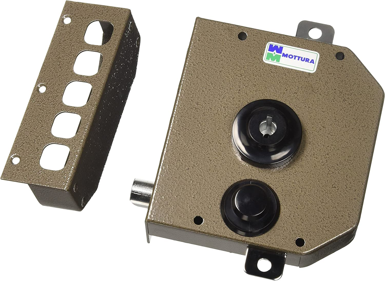 Mottura - Cerradura triple con medio giro Bomba - cilindro de 30 mm de diámetro con longitud externa de 50 mm