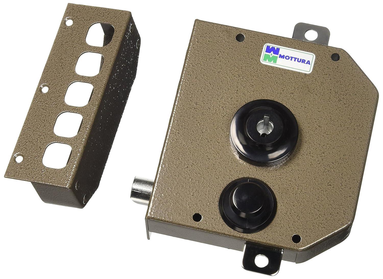 Mottura - Cerradura triple con medio giro Bomba - cilindro de 30 mm de diámetro con longitud externa de 50 mm: Amazon.es: Bricolaje y herramientas