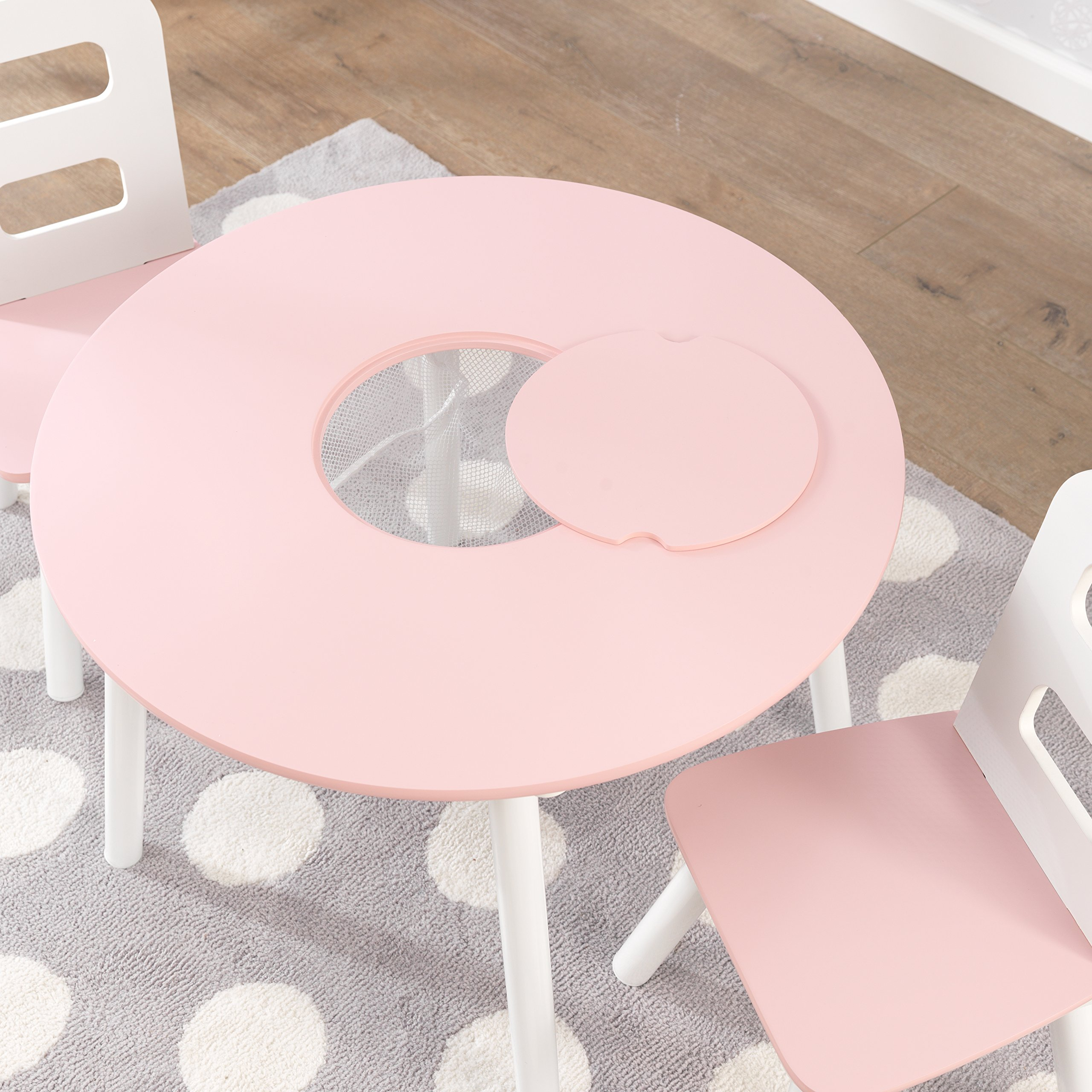 Strange Details About Kidkraft Round Table And 2 Chair Set White Pink Pabps2019 Chair Design Images Pabps2019Com