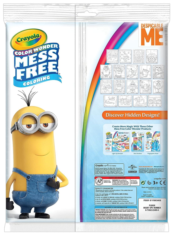 Crayola Despicable Me Color Wonder Coloring Pad & Markers Binney ...