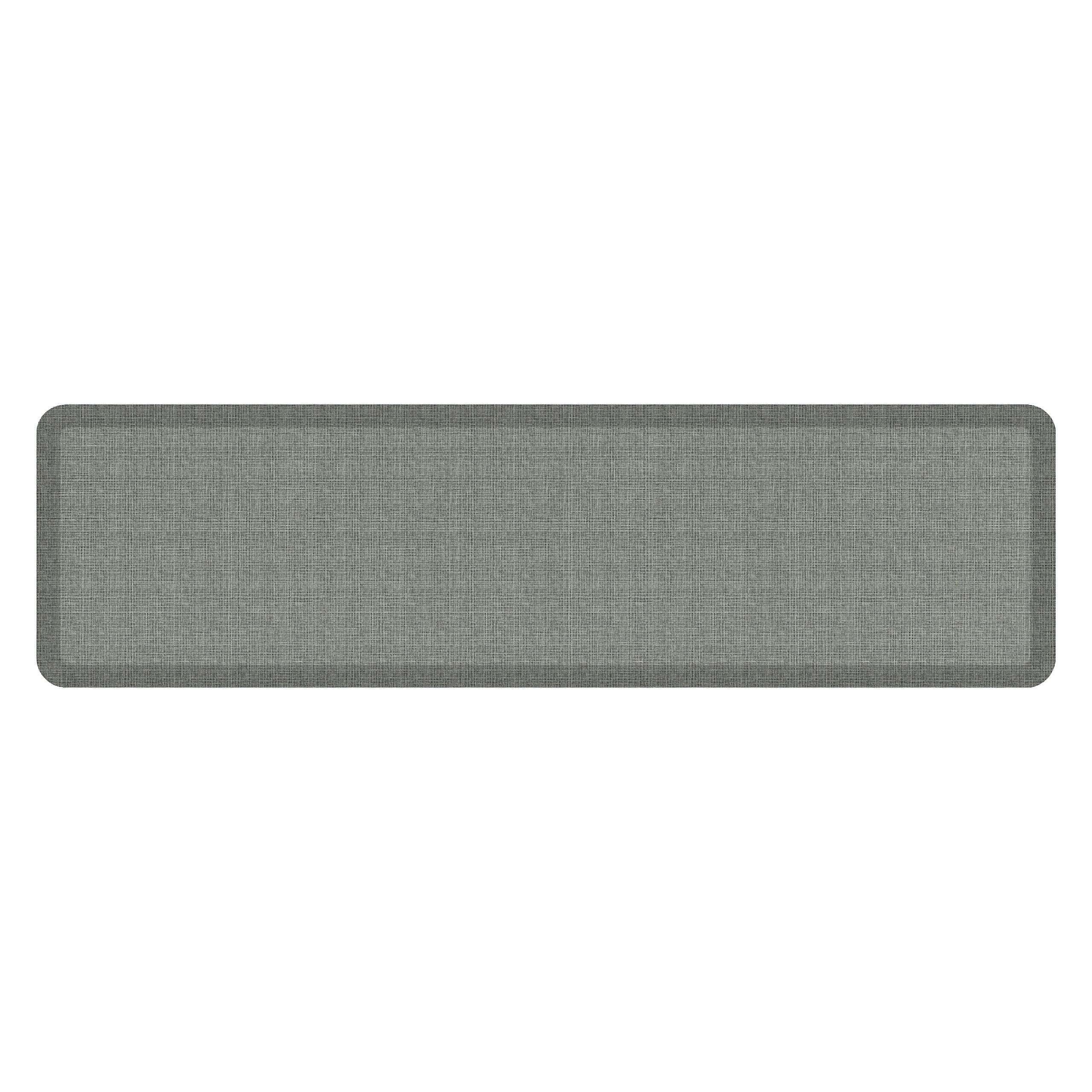 """NewLife by GelPro Anti-Fatigue Designer Comfort Kitchen Floor Mat, 20x72'', Tweed Grey Goose Stain Resistant Surface with 3/4"""" Thick Ergo-foam Core for Health and Wellness"""