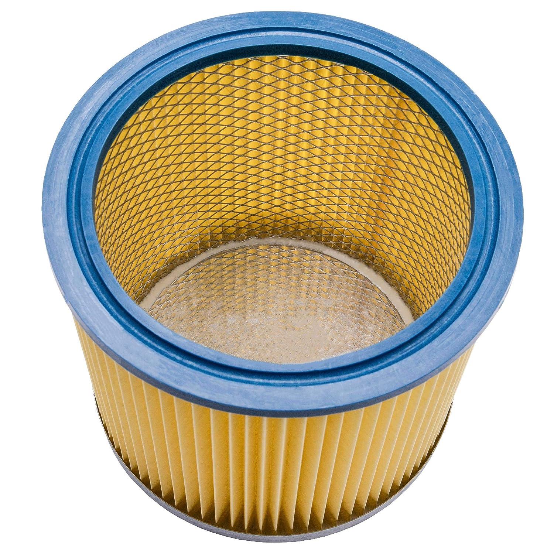 BT-VC 1250 BT-VC 1115 vhbw filtro tondo//filtro a lamelle per aspirapolvere Einhell AS Inox INOX BT-VC 1215 S