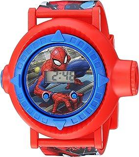 Spider Man Boys Quartz Watch with Plastic Strap, red, 23.75 (Model: