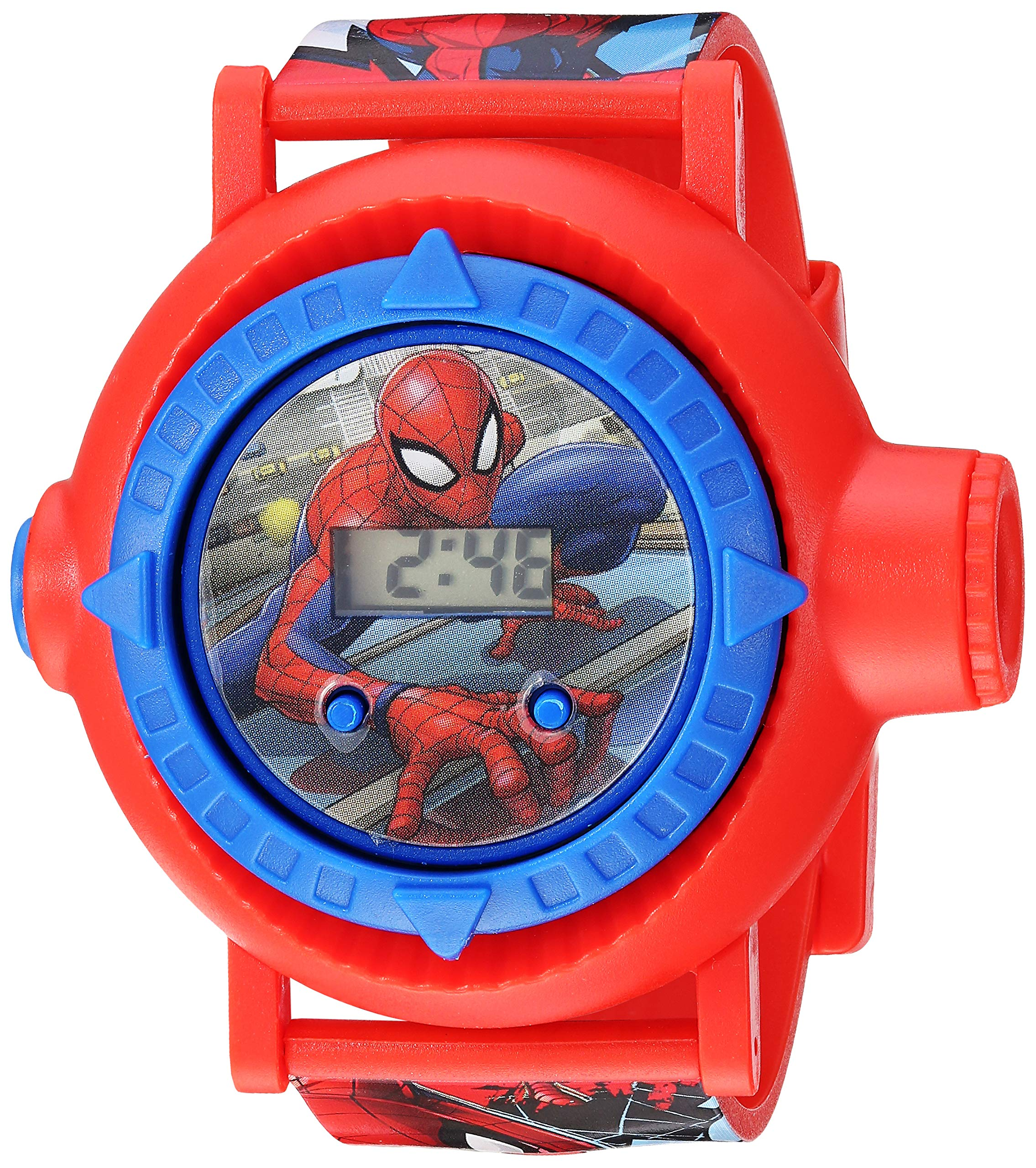 Spider Man Boys' Quartz Watch with Plastic Strap, red, 23.75 (Model: SPD4430) by Spider Man