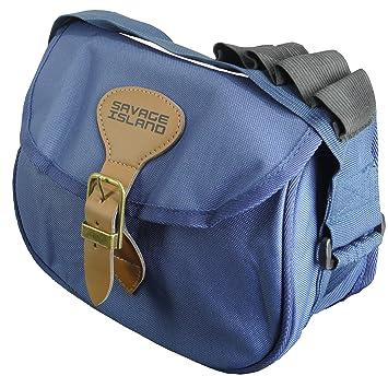 Savage Island Speedloader Shotgun Cartridge Bag Hunting Clay Pigeon Game  Shooting (Blue)