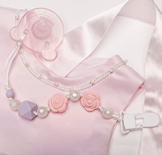 Amazon.com: Chupete con clips con anillos de dentició ...