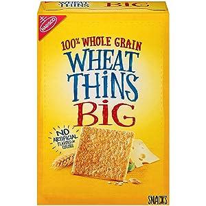 Wheat Thins BIG Whole Grain Wheat Crackers, 8 oz