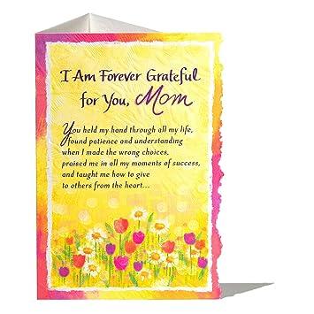 Amazon.com: Tarjeta de felicitación para mamá con texto en ...