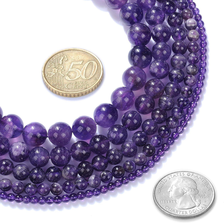 """Améthyste Rond 20 Mm Collier 17.5/"""" nature de gros perles grande taille"""