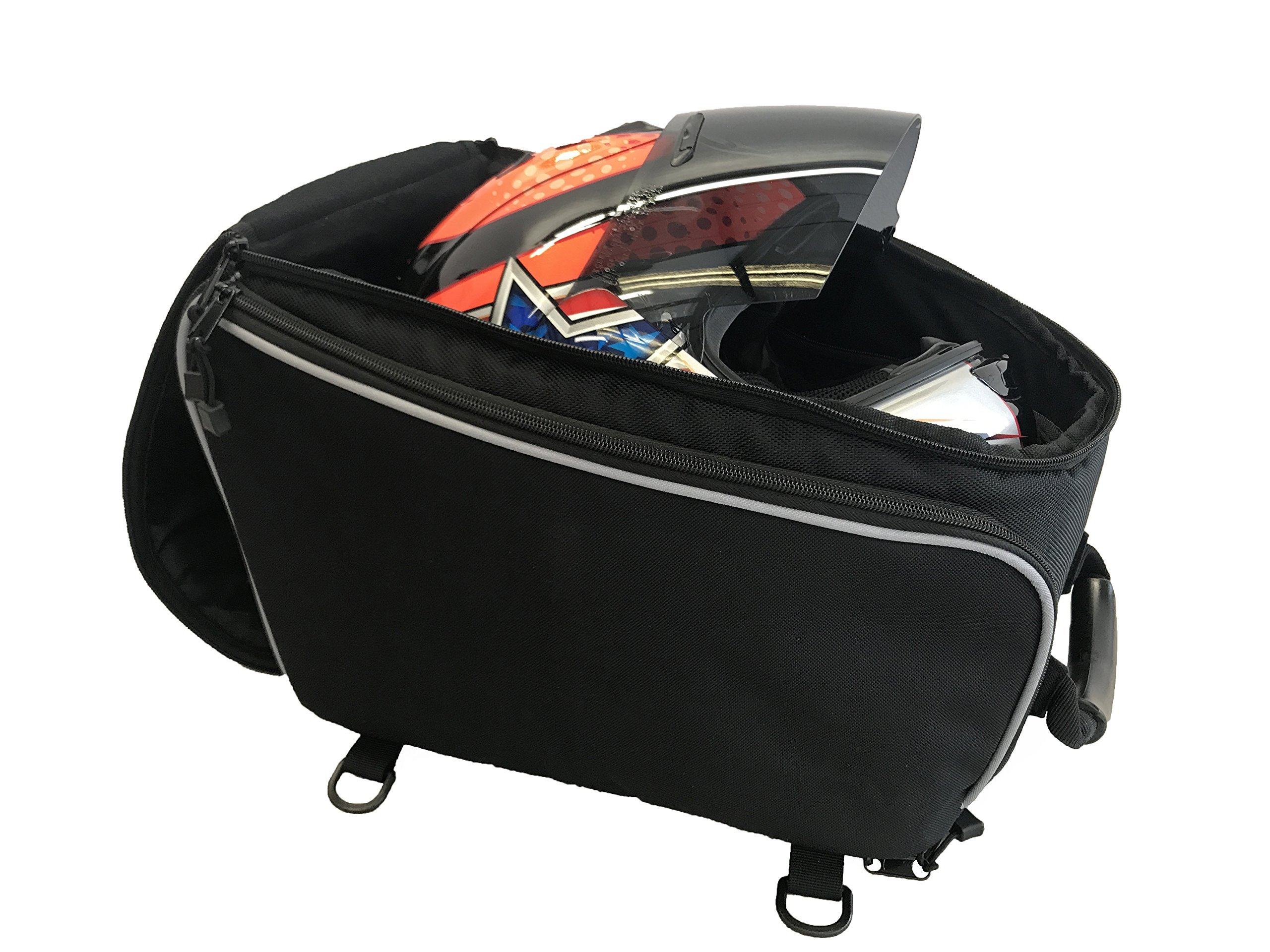 Deluxe Motorcycle Helmet Backpack Bag - Premium Quality Durable Helmet Storage Bag - Portable Removable Faceshield Protective Pouch - Sports, Motorbike Riders with Carrying Handle & Straps