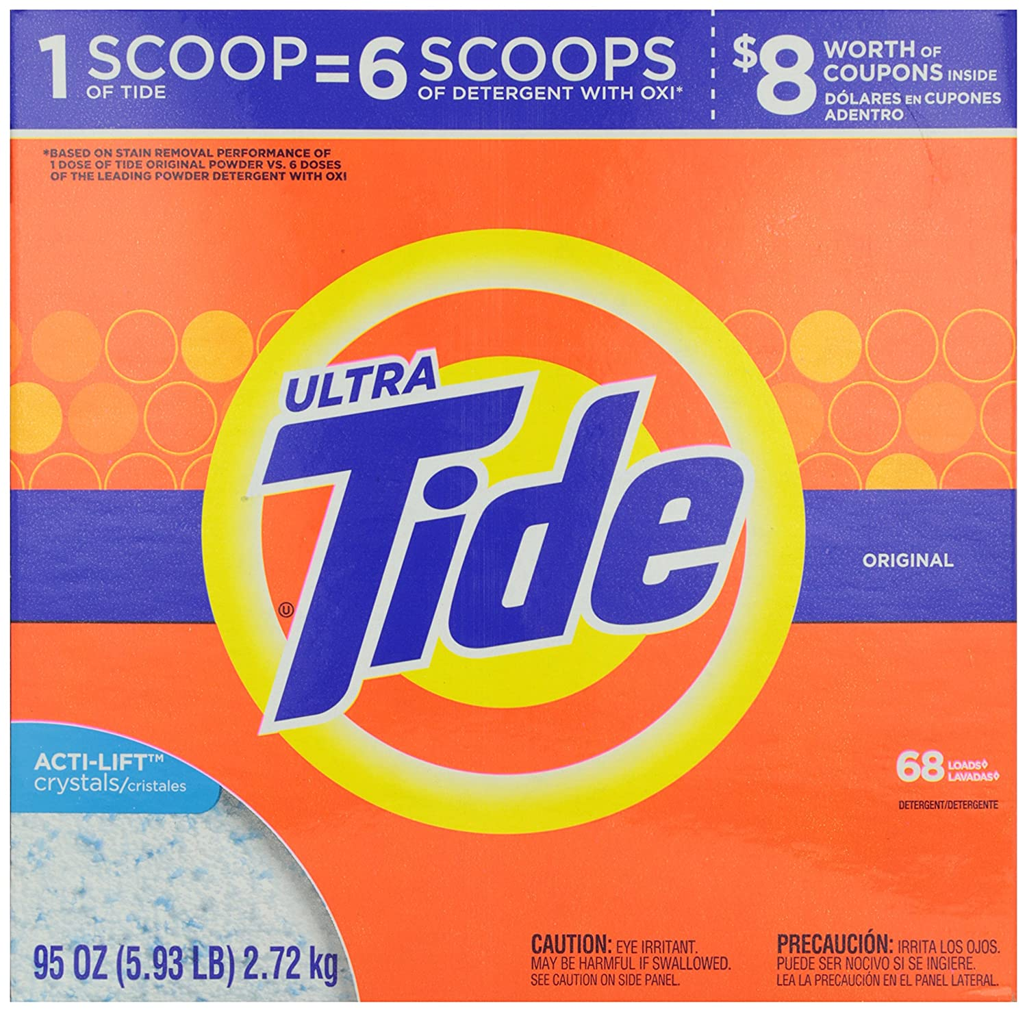 Amazon.com: Tide Fresh Scent Powdered Laundry Detergent, 68 Load, 95 oz: Health & Personal Care