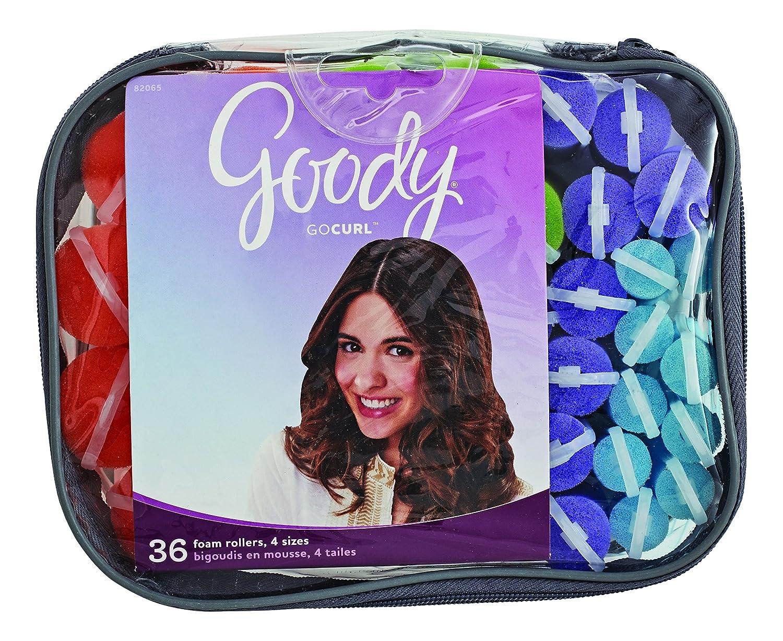 Goody GoCurl Foam Hair Rollers, Assorted Colors, 36 Count 82065
