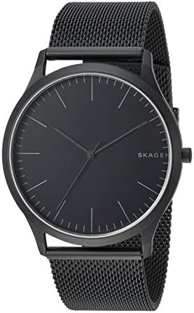 8a3b08527c Skagen Men Jorn Analog-Quartz Watch with Stainless-Steel Strap, Black, 22