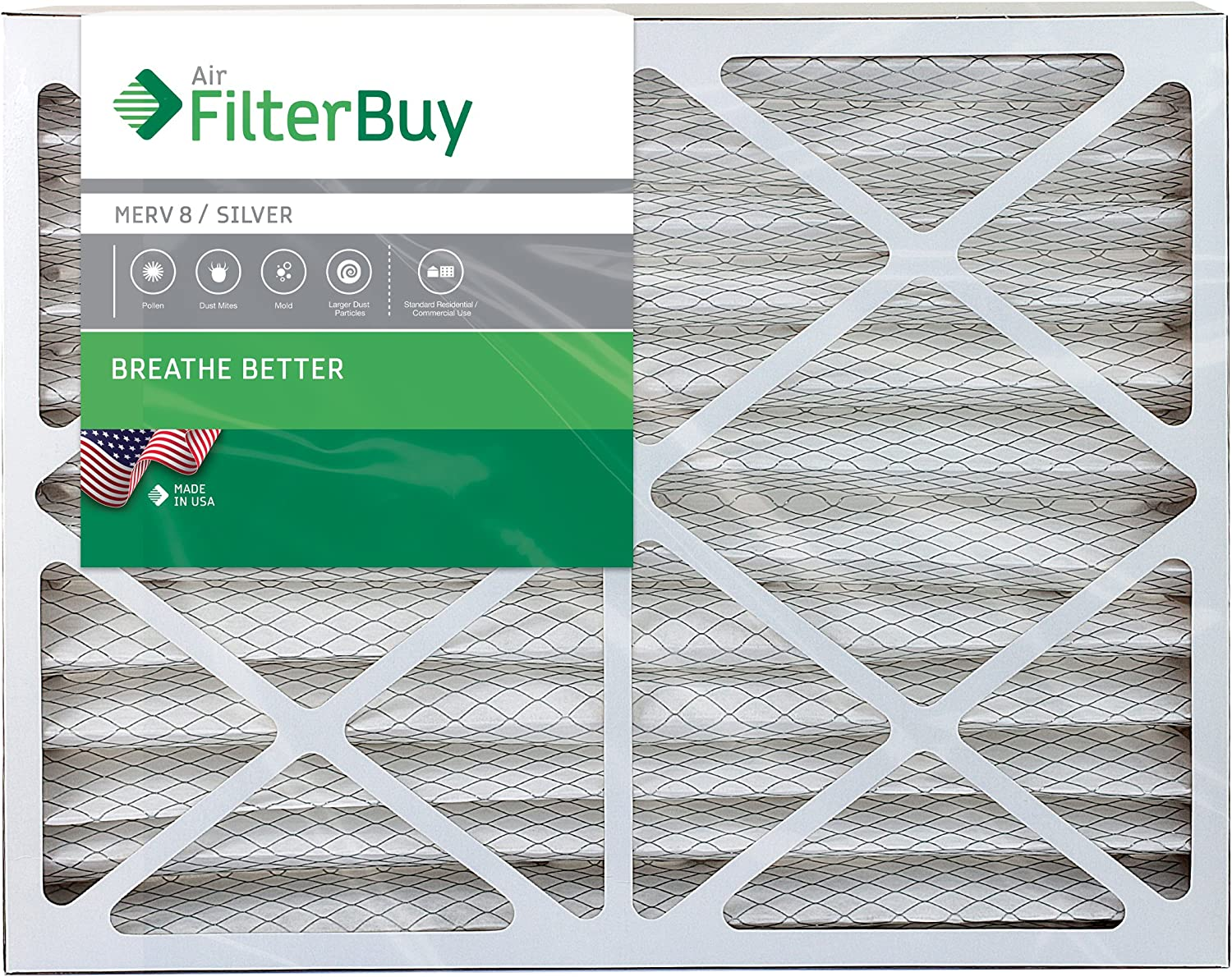 Tier1 14x25x1 Merv 8 Pleated Dust /& Pollen AC Furnace Air Filter 6 Pack