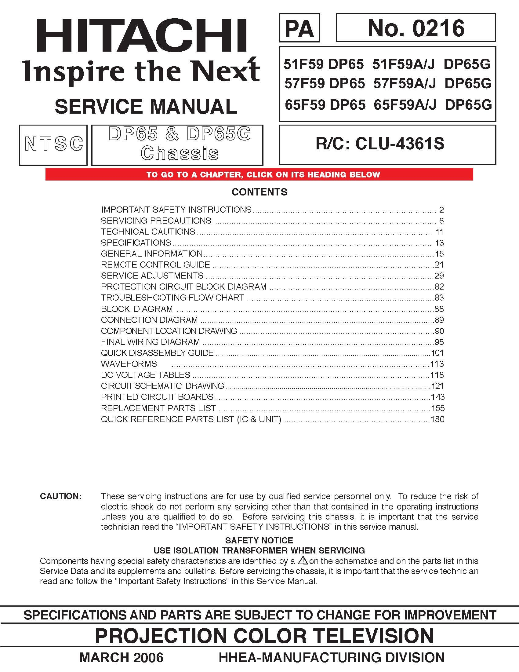 Hitachi 51f59 Manual Pdf