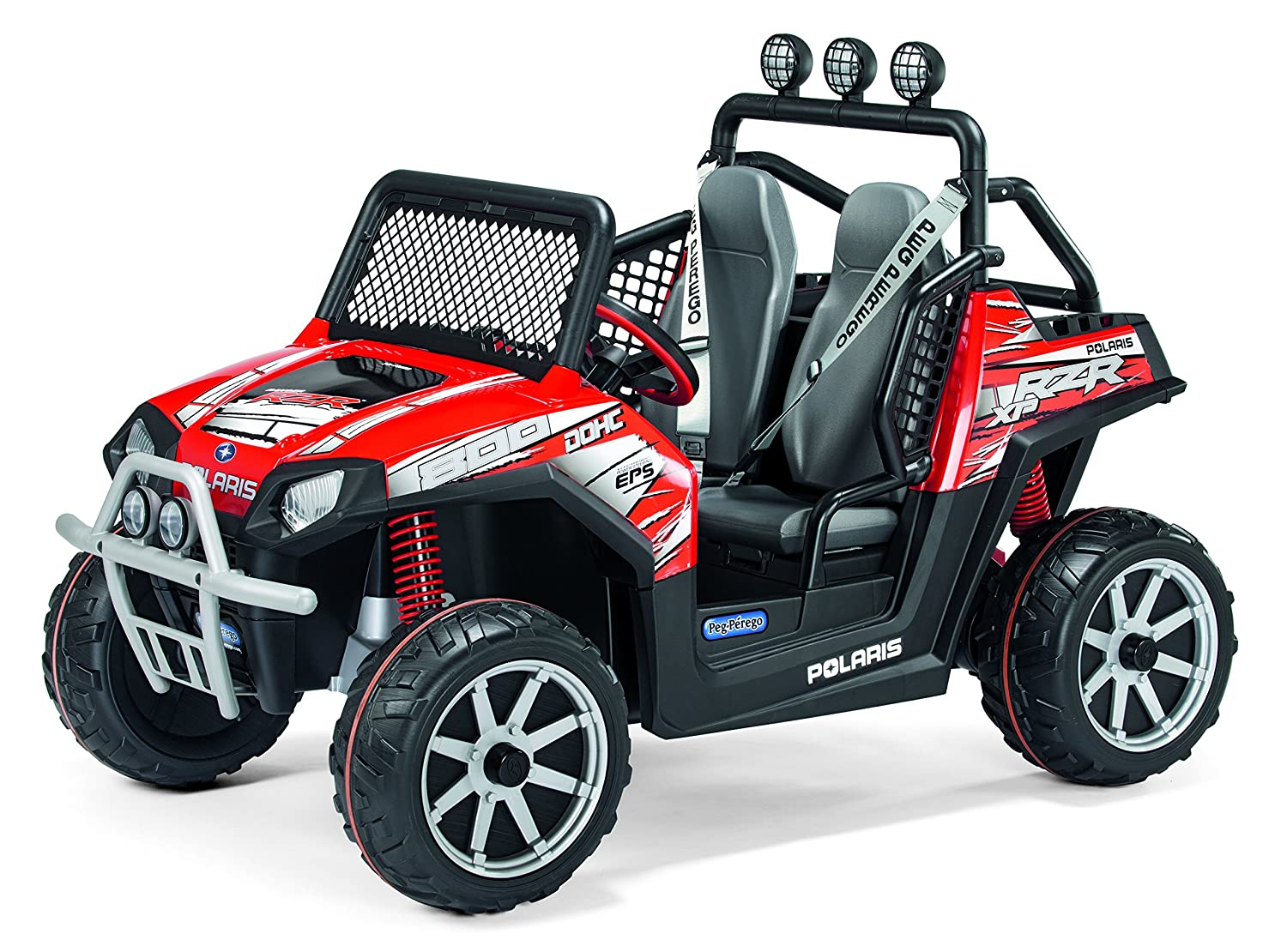 Peg Perego Electric Car For Kids Ride On Rzr Polaris Red
