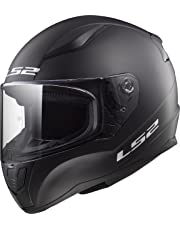 TORC LS2 Retro - Casco de cara completa para moto unisex para adulto, Casco estilo cara completa, Negro mate, Mediano