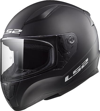 324963fe19f Amazon.com: LS2 Helmets Rapid Solid Matte Black Unisex-Adult Full-Face- Helmet-Style Motorcycle Helmet (Matte Black, X-Large): Automotive