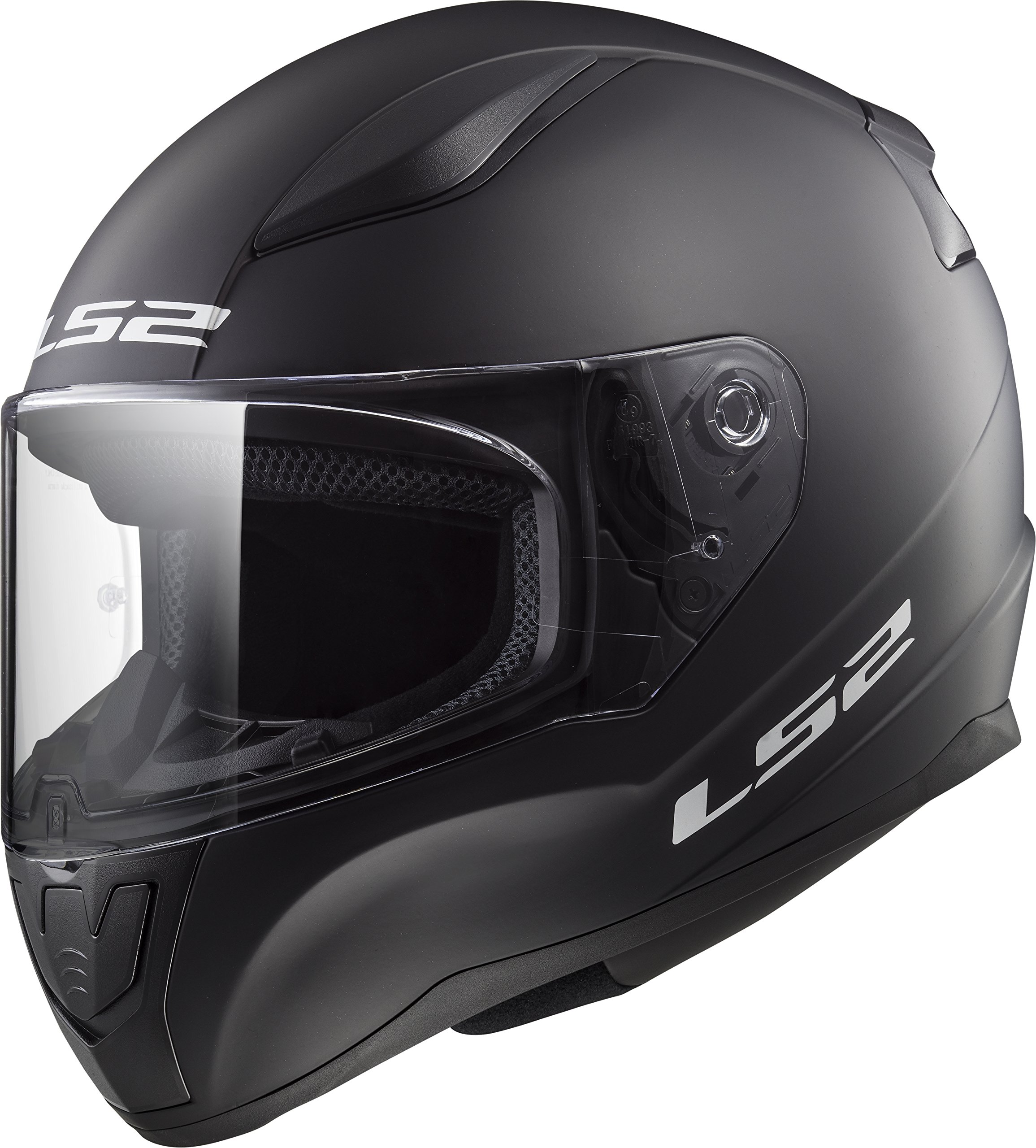 LS2 Helmets Rapid Solid Matte Black Unisex-Adult Full-Face-Helmet-Style Motorcycle Helmet (Matte Black, Small) by LS2 Helmets
