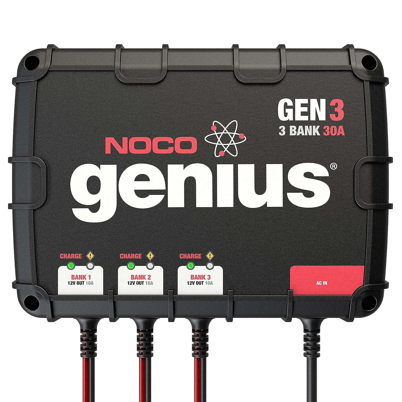Amazon.com: NOCO Genius GEN3 30 Amp 3-Bank Waterproof Smart On-Board Battery  Charger: Automotive