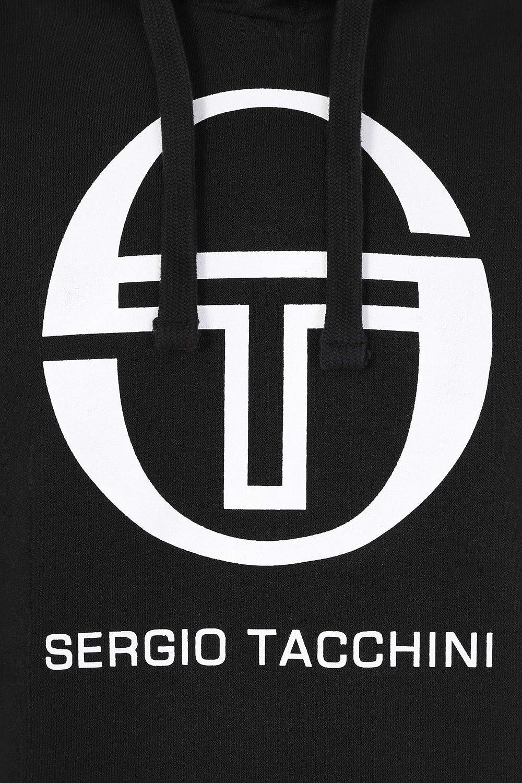 Negro Sergio Tacchini Hombre Sudadera con Capucha gr/áfica