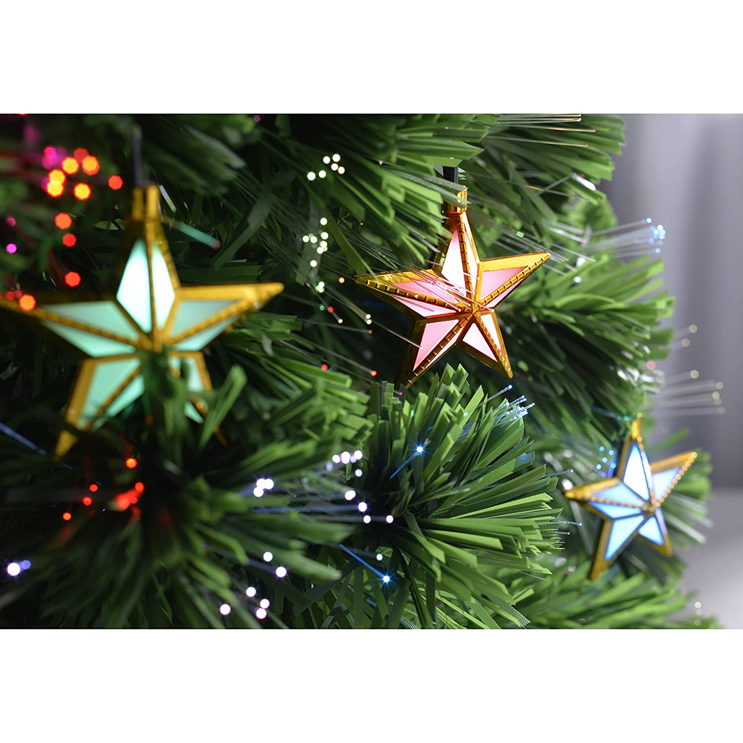 WeRChristmas Pre-Lit Fibre Optic Multi-Function Christmas Tree with ...
